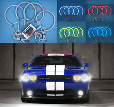4pcs Cotton RGB LED Angel Eyes Halo Rings DRL For Dodge Challenger 2008-2014