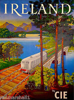 Ireland Scenic Irish United Kingdom Vintage Travel Art Poster Advertisement