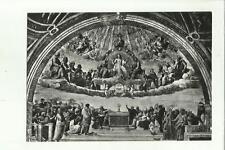 138151 ROMA CITTA' DEL VATICANO STANZE DI RAFFAELLO DISPUTA DEL SS SACRAMENTO
