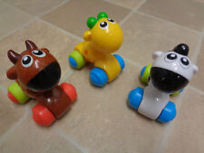 M&S Pre-School Young Children push along plastic animals - horse,cow,giraffe