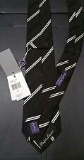 Ralph Lauren Purple Label Tie NWT $215 Italian Made 100% Silk Black