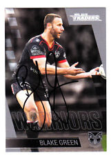 BLAKE GREEN NEW ZEALAND WARRIORS 2019 TLA TRADERS NRL SIGNED CARD