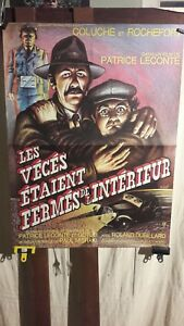 "AFFICHE  CINEMA COLUCHE ROCHEFORT  COMEDIE POLICIERE  ""LES VECES...."