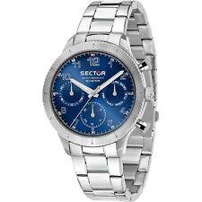 OROLOGIO SECTOR 270 r3253578012 uomo watch ACCIAIO 41MM MULTIFUNZIONE blu blue