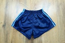 80's Adidas Shiny Nylon Shorts Glanz West Germany B Army Size Small D5 (N359)