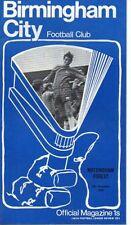 Division 2 Football League Fixture Programmes (1970-1979)
