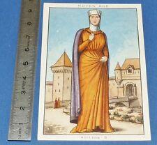 CHROMO 1950 GRANDE IMAGE BON-POINT BLEDINE COSTUME FEMININ MOYEN-AGE XIIIe