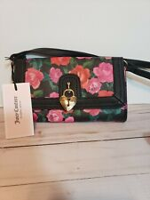 NEWT Juicy Couture Charm School Mini Crossbody black romantic Floral handbag Bag