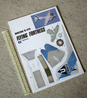 Boeing B-17G Flying Fortress. 1980s Vintage Alphakits Cut-Out Card Model Kit