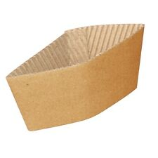 1000 x Corrugated Cup Sleeved For 8oz Cup Disposable Hot Drink Sleeve Catering