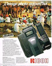 Publicité Advertising 1990 Appareil photo mirai Zoom Auto-Focus Ricoh