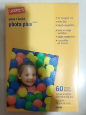 Staples Photo Plus 4 X 6 inch glossy photo printer paper 60 sheets 100mm x 150mm