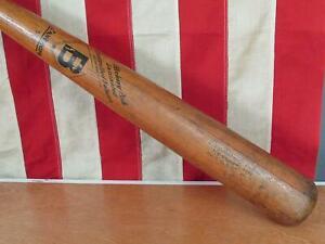 "Vintage 1950s Bancroft 500 Wood Baseball Bat Hickory Ash Ted Williams Type 35"""