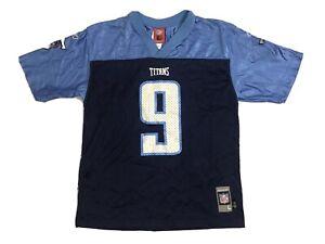 Tennessee Titans Steve McNair Football Jersey Boys Large Reebok Nfl #9 Throwback