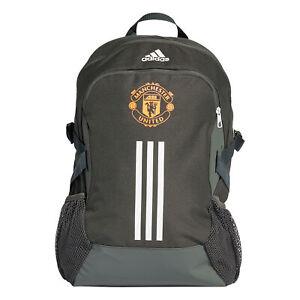 Adidas Unisex Manchester United Football Backpack Rucksack - Green