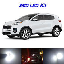 10 x White LED Bulbs for 2017 2018 Kia Sportage Reverse + Tag + Interior Light
