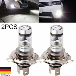 2X H4 LED Scheinwerfer Abblendlicht Fernlicht Nebel  Auto 100W Weiß Birne 6000K