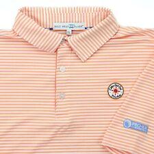 "Bald Head Blues Men XL 48"" Cabo Del Sol Pro Am Golf Polo Shirt Orange White"