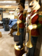 Vintage pair toy soldier life size decor christmas display