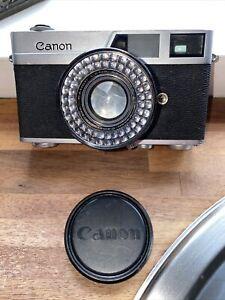 Vintage Canon Canonet Camera & Case Made In Japan 45mm 1:19 1960's Rangefinder