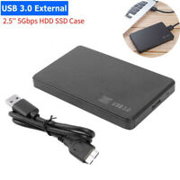 SATA USB 3.0 Hard Drive Disk Case HDD SSD Enclosure External Laptop For Win10 ED