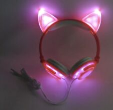 Cat Ear Headphones USB Rechargeable LED Light Up Foldable DJ