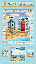 Beach Ocean Sea Lightouse Sea Shell Fabric PANEL Forever By The Sea #24739