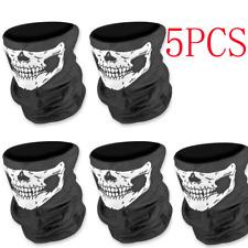 5Ps Cycling Skull Bandana Face Mask Tube Neck Scarf Skeleton Motorcycle Headband