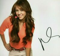 MILEY CYRUS SIGNED AUTOGRAPHED PHOTO SINGER ACTRESS 8X10 COA