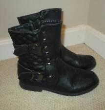 Girls Glitz n Glam ADELE Black Metallic Studded Boots 4