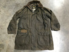 barbour border wax jacket 42 Inch Chest Green