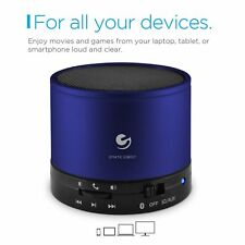 Ematic ESB107BU Portable Bluetooth Speaker and Speakerphone for iOS/Android