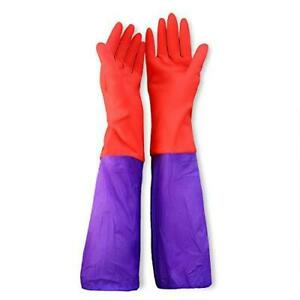 SunGrow Aquarium Water Change Gloves, 19.6 Inches Long, No-Skid Design, Keep