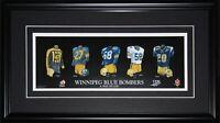 Winnipeg Blue Bombers CFL Football Jersey Evolution CFL Football Collector Frame