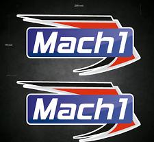 2 x 200mm x 98mm MACH 1 Stickers/Decals - Karting - Go-Kart