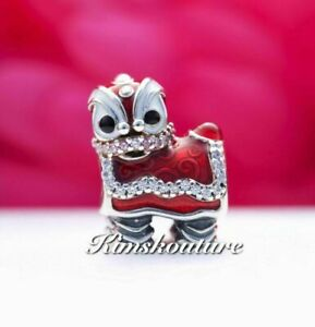 Authentic Pandora Chinese Lion Dance Silver Charm 792043CZ Chinese New Year !!!