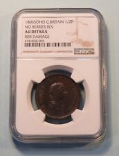 1806 Great Britain 1/2 Half Penny Copper Coin NGC Graded AU England UK English