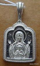 PLATA 282m Colgante Madre Dios Consecrated the Relics San Jorge 5