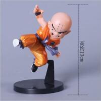 "5.1""Mens Anime Dragon Ball Little Mini Krillin Statue PVC Figure Model Doll Gift"