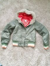O'Neill Camo Fur Hooded Jacket Size XS Xtra Small Women's