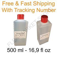 ammonia 500 ml 16,9 fl oz Ammonium hydroxide in solution 25 % free fast shipping