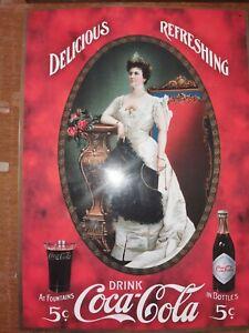 Ancienne PLAQUE PUBLICITAIRE DRINK COCA COLA en TÔLE émaillée