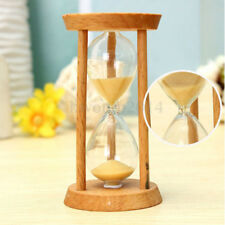 3 Minute Wooden Frame Glass Sand Sandglass Hourglass Timer Clock Time Decor Gift