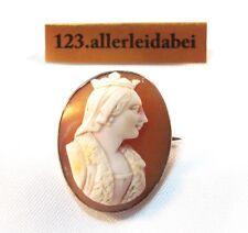 Zauberhafte Gemme Kamee´  Brosche Original Muschel um 1850 Cameo / AE 074