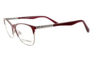New Dolce&Gabbana DG 1246 1223 Matte Red Silver RX Eyeglasses Frames 53mm Italy