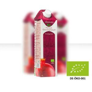 Bio Granatapfelsaft 100% Direktsaft, 9 Pack (â 1 Liter), DE-ÖKO-001, Granatapfel