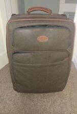 Leather Upright (2) Suitcases with Extra Compartments