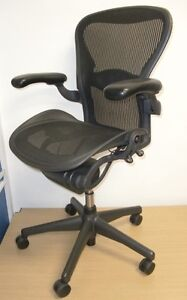 Superb Herman Miller Aeron Fully Loaded Flipper Arms Office Chair Free Postage