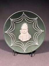German Bisque Porcelain Plate w/ Native American Decoration