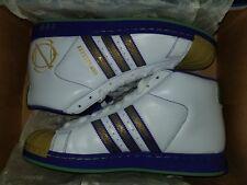 2007 Adidas Pro Model NEW ORLEANS Sz 9.5 White/ Purple #059844 Unworn Vintage